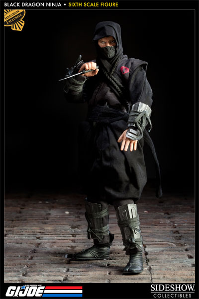 Black Dragon Ninja Sixth Scale Figure & G.I. Joe Black Dragon Ninja Sixth Scale Figure by Sideshow C ...