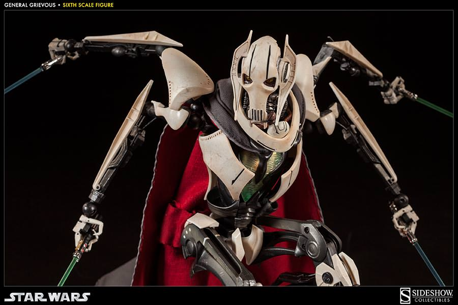 Star Wars General Grievous Toys : Star wars general grievous sixth scale figure by sideshow