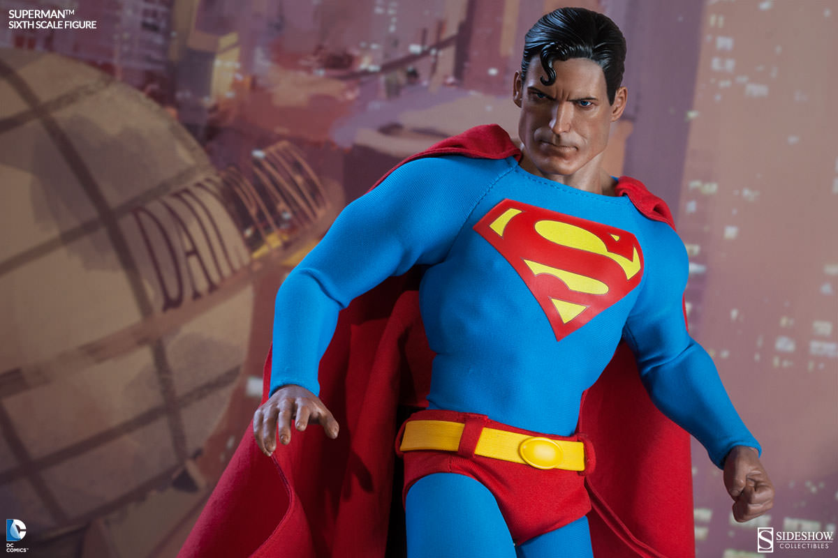 superman joins sideshow u0026 39 s sixth scale collection
