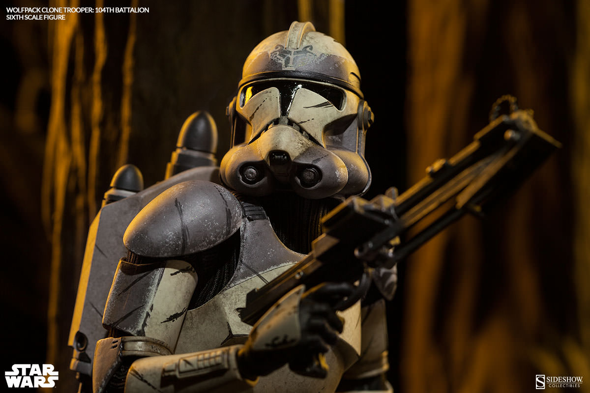 star wars wolfpack clone trooper 104th battalion sixth scal
