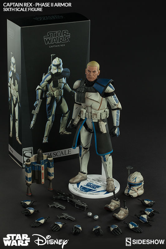 New Star Wars Captain Rex Phase Ii Armor Sixth Scale Figure