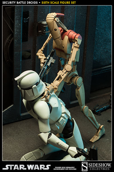 Star Wars Droids Toys : Star wars security battle droids sixth scale figure by