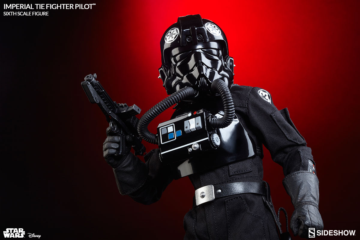 star wars imperial tie fighter pilot sixth scale figure by. Black Bedroom Furniture Sets. Home Design Ideas