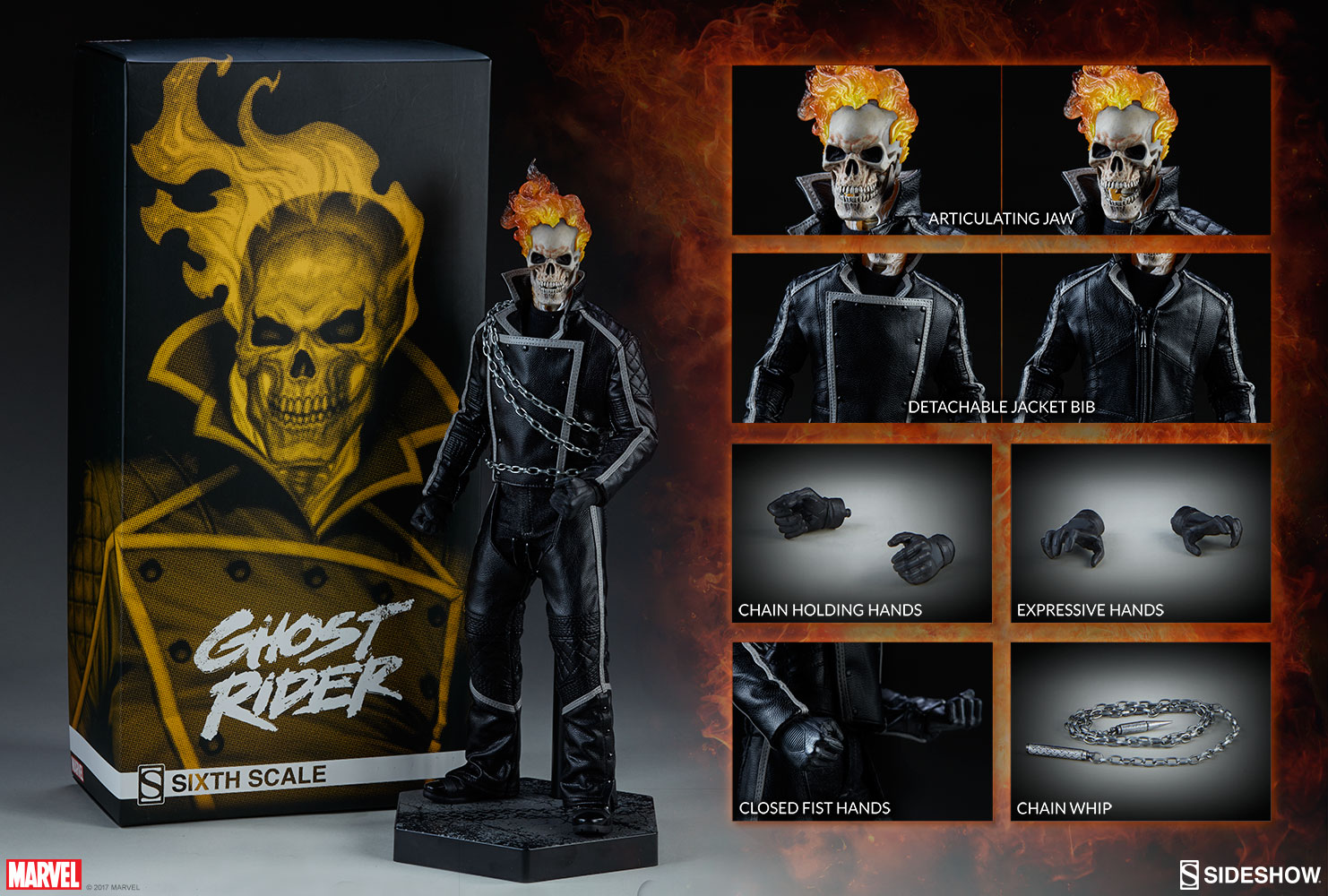 marvel ghost rider sixth scale figuresideshow collectibl