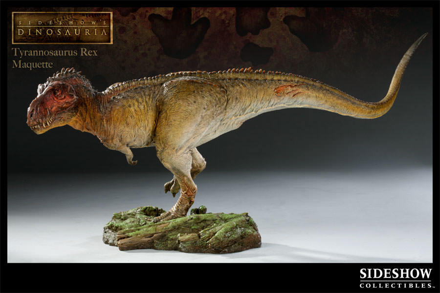 Dinosauria tyrannosaurus rex maquette by sideshow for T rex location