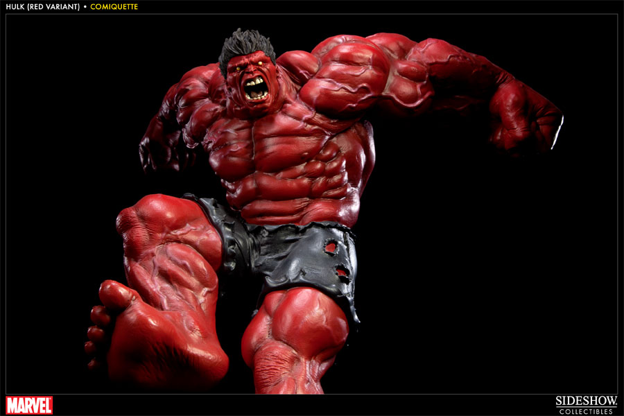 Marvel red hulk polystone statue by sideshow collectibles - Pictures of red hulk ...