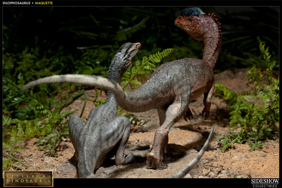 Dinosauria Dilophosaurus Maquette by Sideshow Collectibles ...