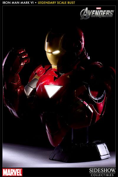 Iron Man Mark 3000 ~ Marvel iron man mark vi legendary scale bust by sideshow