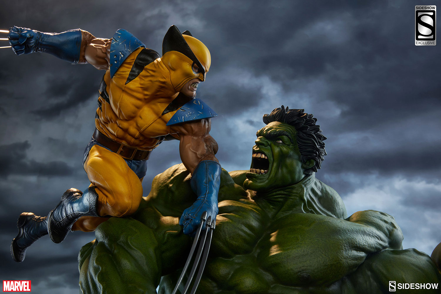 Marvel hulk and wolverine maquette by sideshow collectibles hulk and wolverine maquette hulk and wolverine maquette voltagebd Images