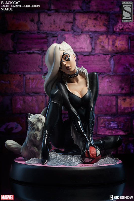 marvel black cat polystone statue by sideshow collectibles