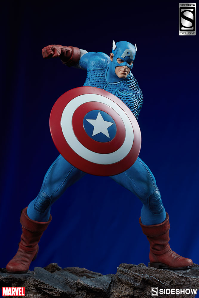marvel captain america statue by sideshow collectibles sideshow