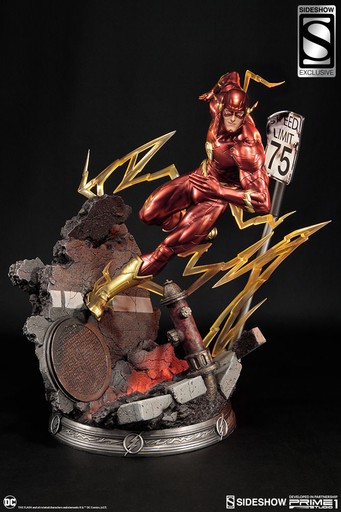 dc comics the flash statue by sideshow collectibles sideshow
