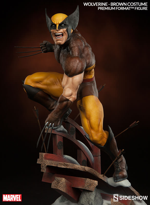 Marvel Wolverine - Brown Costume Premium Format(TM) Figure ...