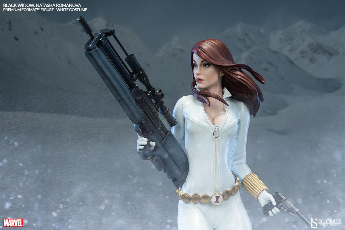 Marvel Black Widow - White Costume Edition Premium Format ...