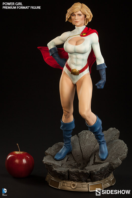 dc comics power girl premium format tm figure by sideshow c