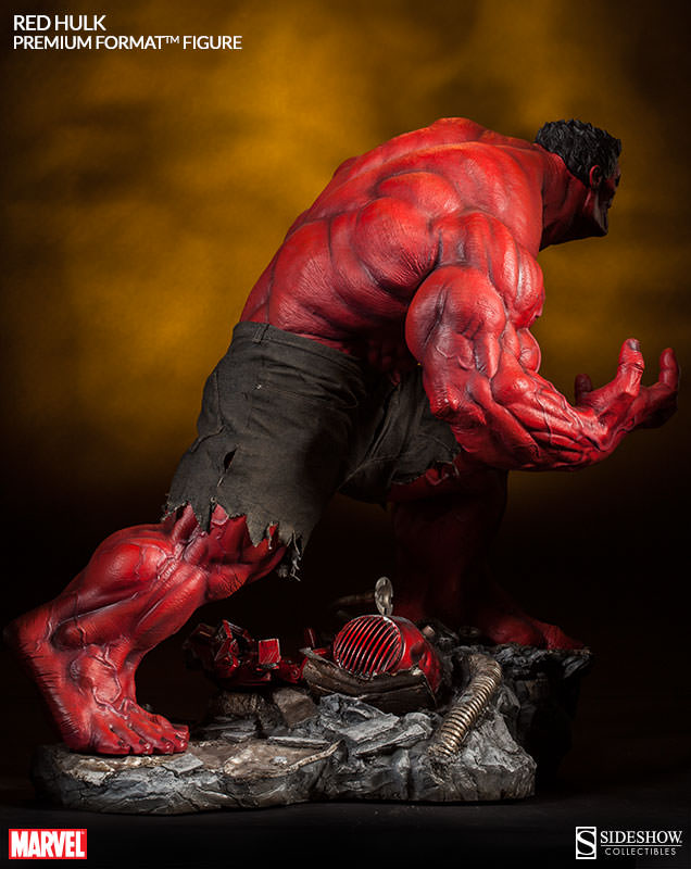 introducing the red hulk premium format figure sideshow