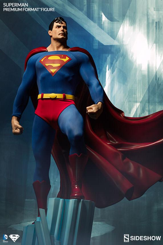 premium format superman figure sideshow collectibles