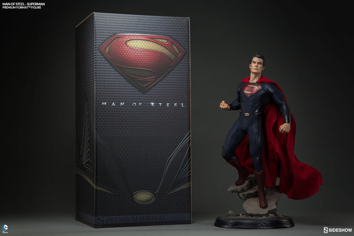 Superman man of steel figure sideshow collectibles man of steel superman premium format figure biocorpaavc