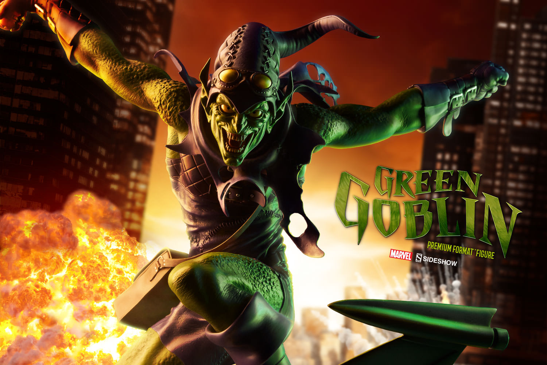 marvel green goblin premium format tm figure by sideshow co