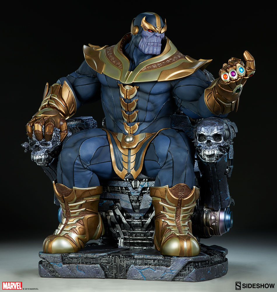 Marvel Thanos on Throne Maquette by Sideshow Collectibles ...