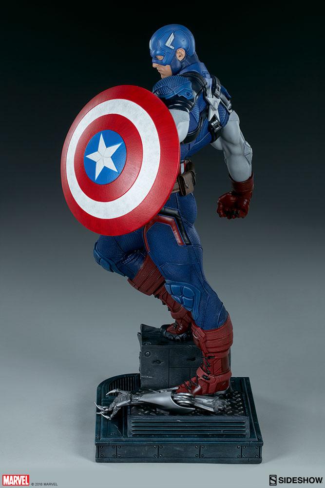 Marvel captain america premium format tm figure by sideshow sideshow collectibles - Image captain america ...