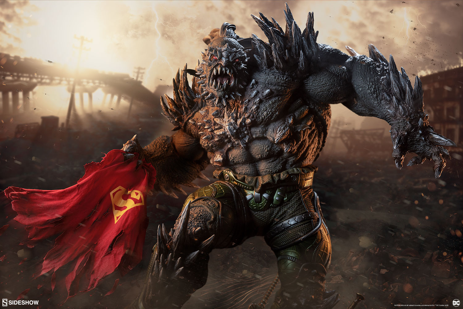 dc comics doomsday maquette by sideshow collectibles sideshow