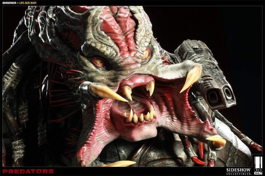 Predator The Berserker Predator Life-Size Bust by Sideshow ...
