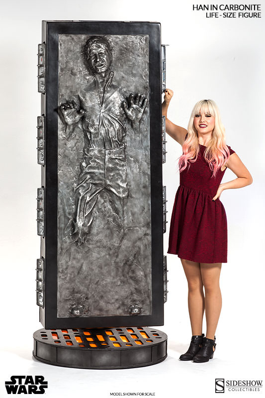 STAR WARS: HAN SOLO IN CARBONITE Life size figure 400072-han-solo-in-carbonite-009
