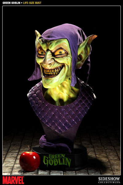 Marvel Green Goblin Life-Size Bust by Sideshow ... Green Goblin Hot Toys