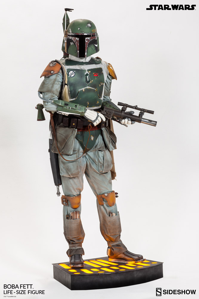 star wars boba fett life size figure by sideshow collectible sideshow collectibles. Black Bedroom Furniture Sets. Home Design Ideas