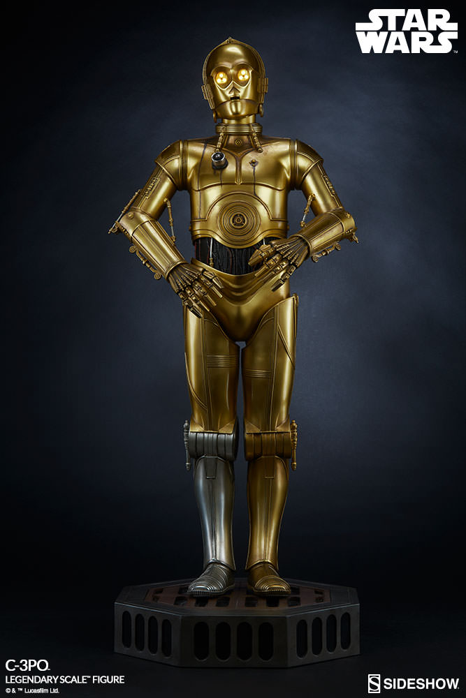 star wars c 3po legendary scale tm figure by sideshow colle sideshow collectibles. Black Bedroom Furniture Sets. Home Design Ideas