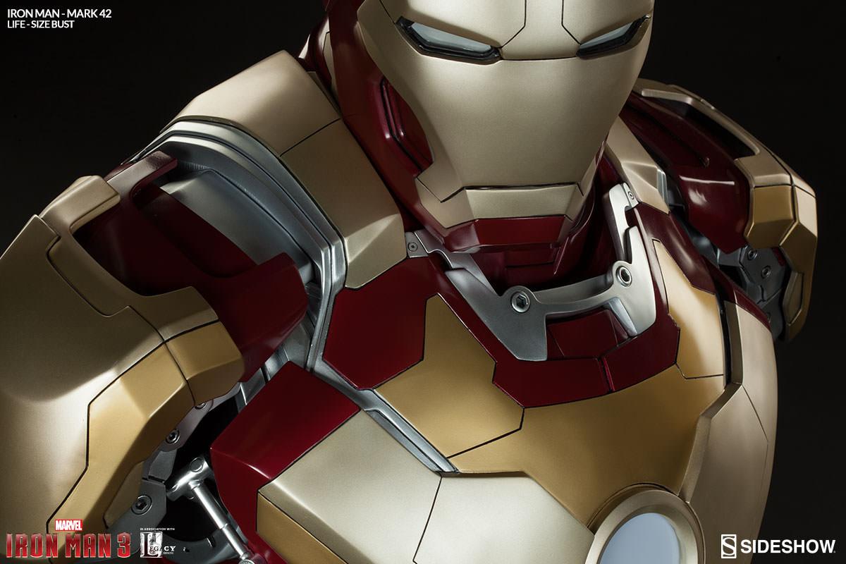 Iron Man Mark 42 Life Size Bust