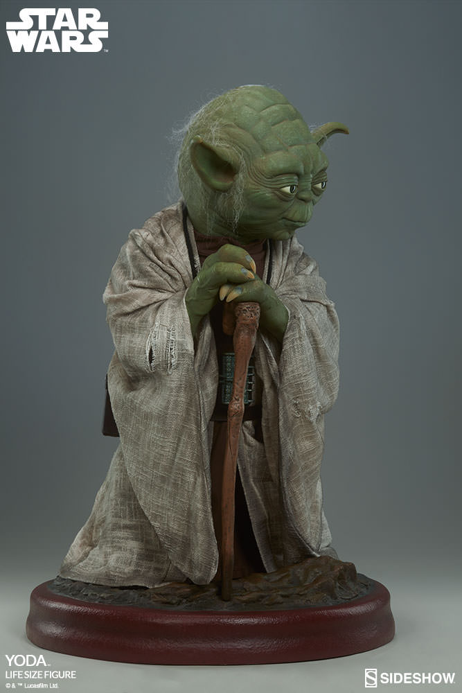 star wars yoda life size figure by sideshow collectibles. Black Bedroom Furniture Sets. Home Design Ideas