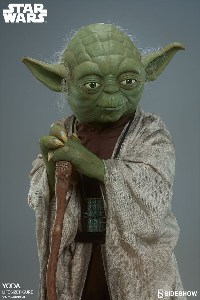 star wars yoda life size figure by sideshow collectibles sideshow collectibles. Black Bedroom Furniture Sets. Home Design Ideas