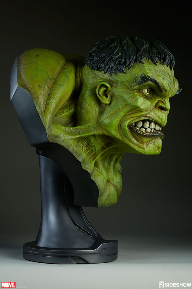 The Incredible Felted Fashion Of Barbara Poole: Marvel The Incredible Hulk Life-Size Bust By Sideshow