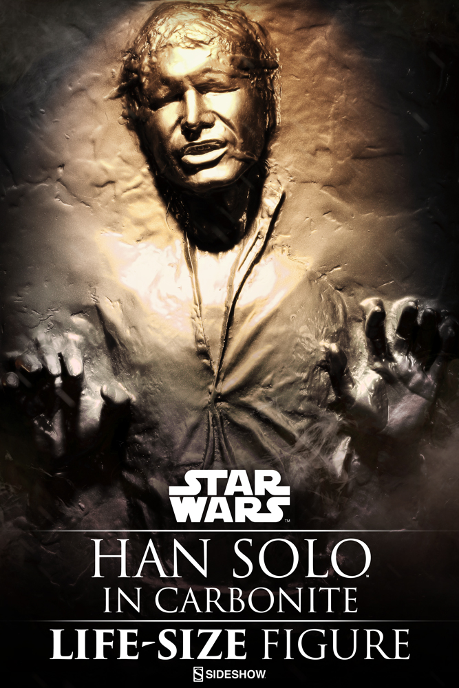 Star wars han solo in carbonite life size figure by - Vaisseau star wars han solo ...