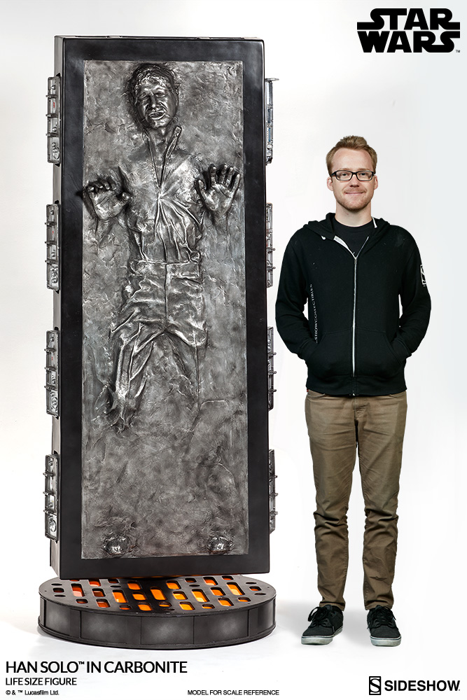 Star Wars Han Solo in Carbonite Life-Size Figure by Sideshow ...