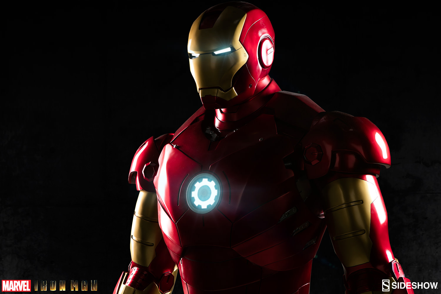 Marvel iron man mark iii life size figure by sideshow for Maison d iron man