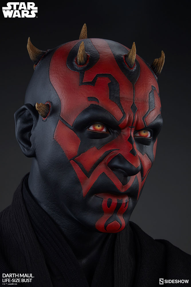 star wars darth maul life size bust by sideshow collectibles
