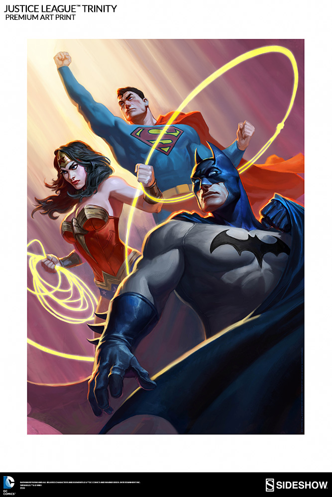 Dc Comics Justice League Trinity Premium Art Print By