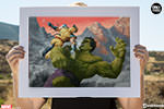 Hulk and Wolverine First Appearance Variant Art Print