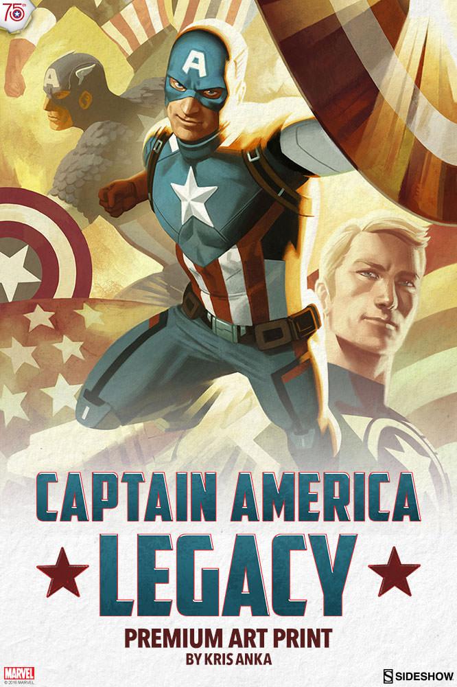 Marvel Captain America Legacy Premium Art Print By