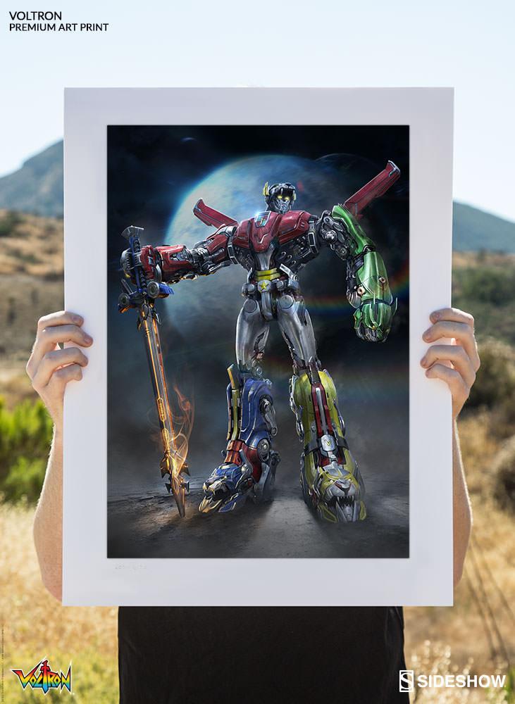 Voltron Defender Of The Universe Voltron Premium Art
