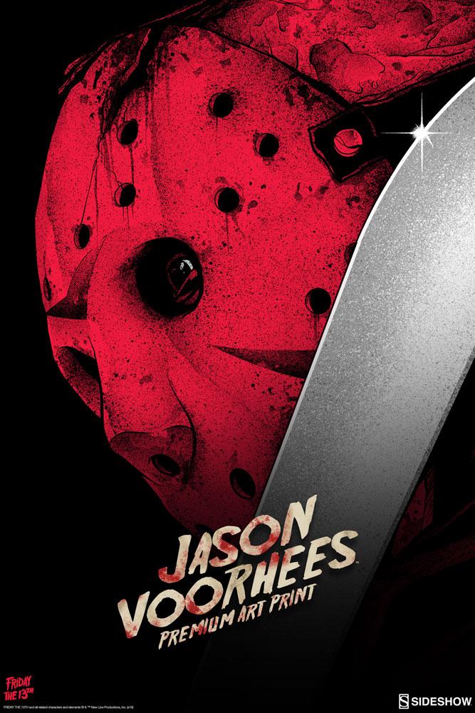 To Print For Jason Mask Pumpkin Stencil: Friday The 13th Jason Voorhees Premium Art Print By