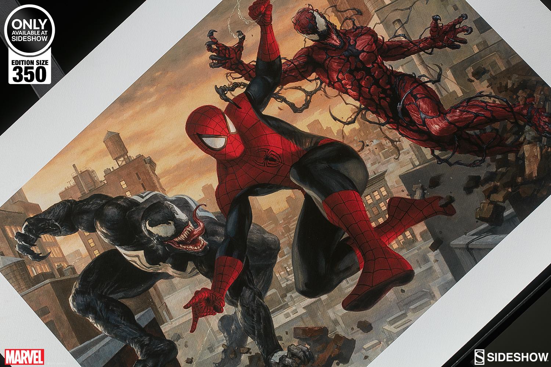 marvel spider-man vs venom and carnage art printsideshow