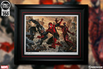Spider-Man vs Venom and Carnage Art Print