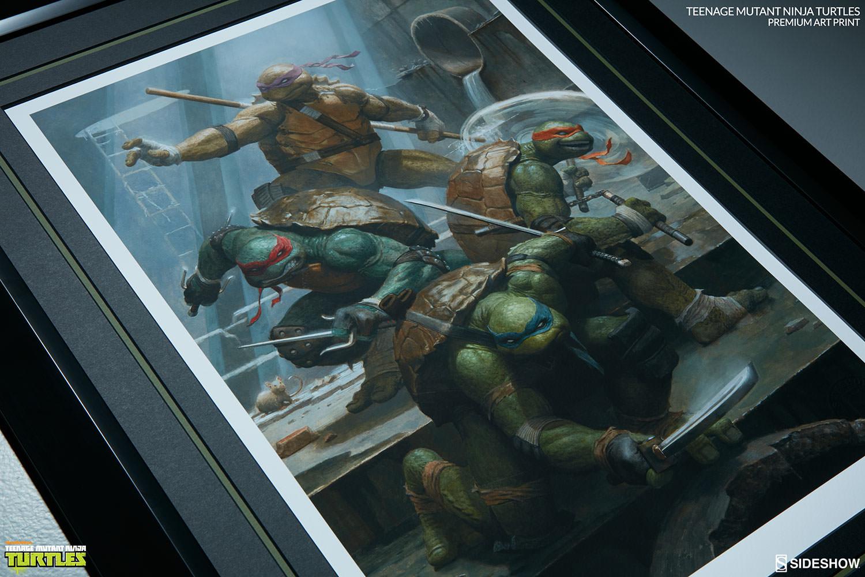 tmnt teenage mutant ninja turtles premium art print by sides