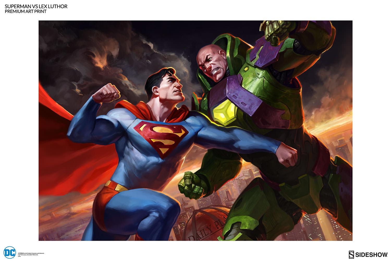 レックス・ルーサーと戦うスーパーマン