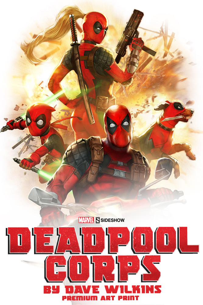 Deadpool Corps Art Print