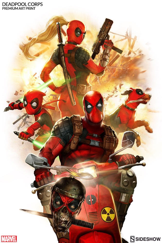 Marvel Deadpool Corps Premium Art Print By Sideshow